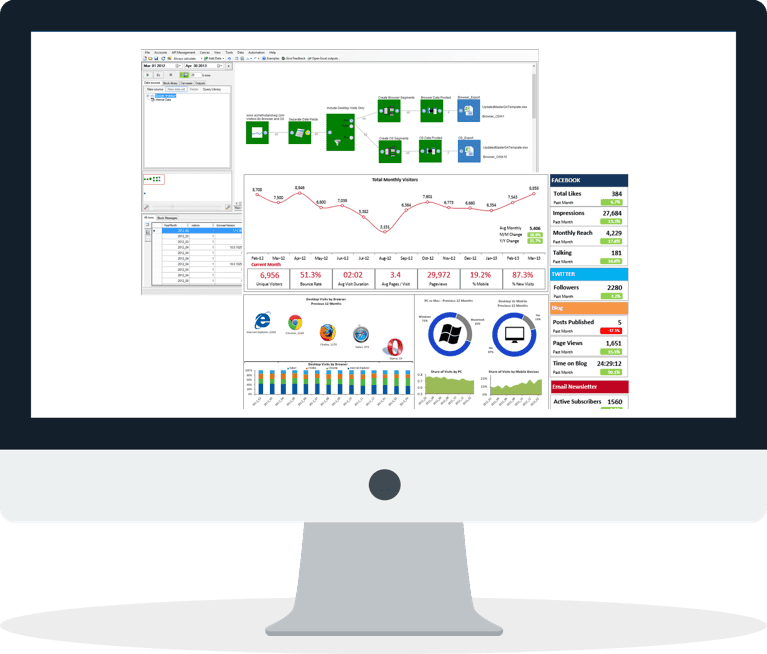 Visual interface - Automate Excel Dashboards and Reports